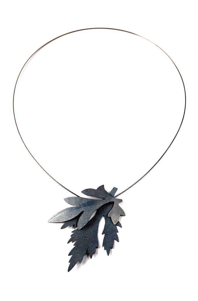 Necklace patinated silver 2016