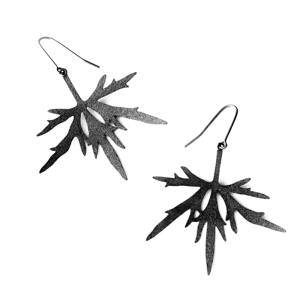 Earrings patinated silver 2017